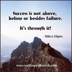 Success.  #walkingwithwords
