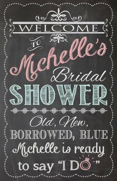 Cute for bridal party! Shabby Chic Vintage Chalkboard Welcome Sign by prettiestlilthings, $15.00