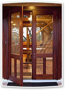 Add beauty and value to your home with our custom wood screen doors. Visit YesterYear's Vintage Doors and select the ideal wooden screen door from our large collection of traditional screen & storm doors. Cottage Style Decor, French Doors, Wooden Screen Door, Vintage Doors, House Exterior, Wood Exterior Door, Doors Interior, Entry Doors, Double Screen Doors