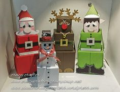Looking to find exciting company gifts for a patient or the team? We have got the most one-of-a-kind range. I was browsing the internet the other day.and I came across a picture of this Santa which is made with the gift box punch, mad. Office Christmas, Christmas Gift Box, Christmas Gift Wrapping, Christmas Projects, Winter Christmas, Xmas Gifts, Holiday Crafts, Holiday Fun, Santa Gifts