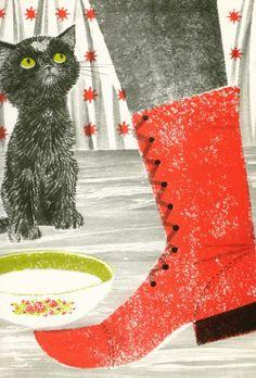 kidlitstorytime:    The Valentine Cat by Clyde Robert Bulla, illustrated by Leonard Weisgard
