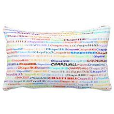Chapel Hill Text Design II Lumbar Pillow