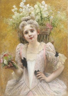 """The Flower Seller"" by Valentine Cameron Prinsep (1838-1904)."