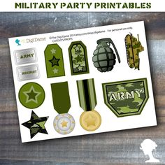 army birthday party favor ideas