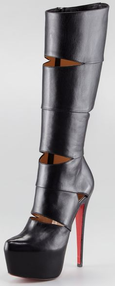 Leather Louboutin Boots