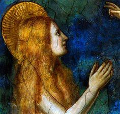 Giotto Cappella della Maddalena -La Maddalena portata in cielo degli angeli
