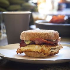 Bacon and Egg Butty from 100 Mile Table on the way to the Farmers Market by @GetForkedAndFly