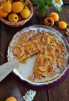 Loquat Tart with Almonds - Recipe - shewandersshefinds.com