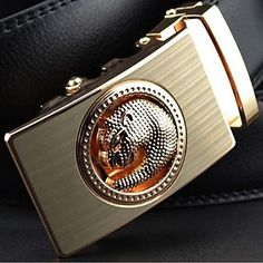 ROSE GOLD PANTHER BLACK LEATHER #BELT   http://www.slimmenswear.com/collections/fashion-belt/products/rose-gold-panther-black-leather-belt