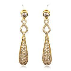 Arrivals 88 Designed Ladies Luxury Rhodium Plating Cubic Zirconia Micro Pave Setting Bridal Wedding Earrings Lead Free Earrings