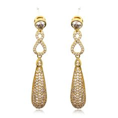 Arrivals 88 Designed Ladies Luxury Rhodium Plating Cubic Zirconia Micro Pave Setting Bridal Wedding Earrings Lead