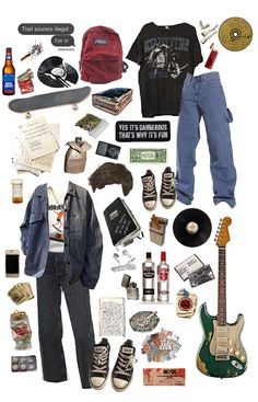 Grunge Outfits, Edgy Outfits, Mode Outfits, Retro Outfits, Vintage Outfits, Fashion Outfits, Vintage Glam, Mode Vintage, Looks Hip Hop