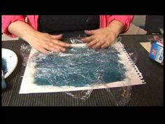 Artists may use acrylic paint in combination with plastic wrap to create an interesting texture. Learn how to create a plastic wrap background textures in this free painting lesson from an art instructor and professional painter.    Expert: Gretchen Kibbe  Bio: Gretchen Kibbe is an artist and part-time faculty member at Appalachian State University...