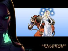 During today's panel for Aspen Comics at the San Diego Comic Con they revealed their Wave Two. As Aspen Comics continues to rebuild and merge properties into one universe we get a glimpse of … Aspen Comics, San Diego Comic Con, Universe, Waves, Princess Zelda, Fictional Characters, Art, Art Background, Kunst