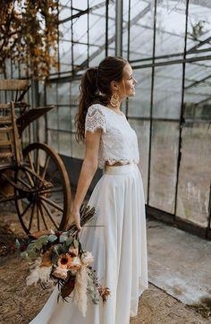 fall wedding dress All time favorites Aktuelle Kollektion - Labude Brautmode Kln Fall Wedding Dresses, Boho Wedding Dress, Boho Dress, Bridal Dresses, Wedding Gowns, Lace Wedding, Mermaid Dresses, Flower Girl Dresses, Two Piece Wedding Dress