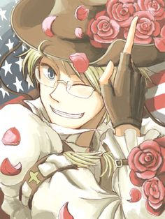 Hetalia America, Alfred's always up for the awesome poses!