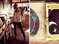 record store photography engagement » Hazelwood Photo Blog