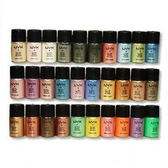 NYX Loose Pearl Glitter Powder Eyeshadow Pigment 30 Colors with a Free Eye Shadow Brush NYX Cosmetic http://www.amazon.com/dp/B004JI1G3O/ref=cm_sw_r_pi_dp_iqsvwb061NAA5