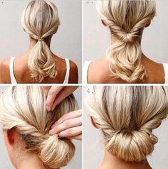 penteados fáceis de fazer sozinha coque estiloso