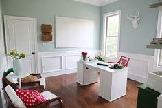 Benjamin Moore's Palladian - a bluish/greenish/gray color for the bathroom?