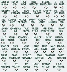 Names of God Ornaments Bible Cross Stitch by flowergardens, $3.00