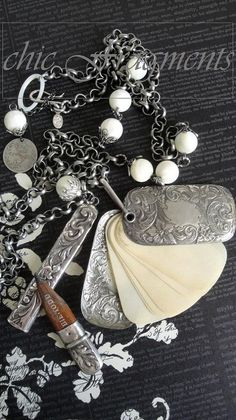 Victorian Chatelaine dance card and pencil holder