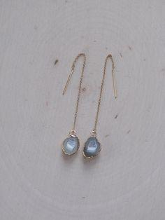 IN love! Geode Earrings / Gold Dipped Geode Earrings / by MalieCreations