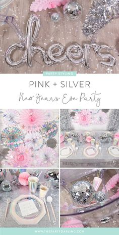 new year's eve party ideas New Years Eve Birthday Party, Disco Birthday Party, Nye Party, Disco Party, First Birthday Parties, Kylie Birthday, Disco Ball, Birthday Ideas, Pink Party Decorations