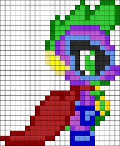 MLP Hum Drum Spike perler bead pattern