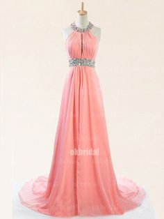 peach prom dresses long prom dresses halter prom dress by okbridal