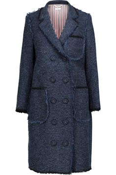 Shop on-sale Thom Browne Fringed wool-blend bouclé coat. Browse other discount designer Coats & more on The Most Fashionable Fashion Outlet, THE OUTNET.COM
