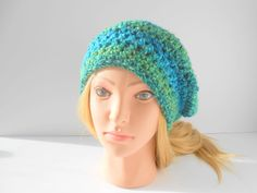 Women's crochet hat slouch beret knit beret /tam slouchy beanie designer style hat Christmas present for her. Ready to ship gift