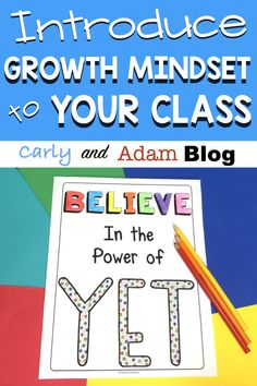Introduce Growth Mindset to Your Class in 5 Easy Steps — Carly and Adam Growth Mindset Lessons, Growth Mindset Classroom, Growth Mindset Activities, Teaching Strategies, Teaching Tips, Stem Teaching, Weekly Lesson Plan Template, Classroom Freebies, Student Success