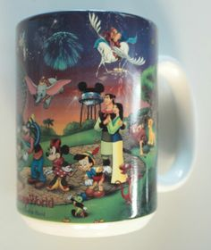 Walt Disney World Epcot 2000 Coffee Mug Cup Celebrate the Future Hand In Hand