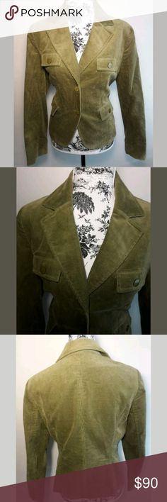 Anne Klein Olive Green Corduroy Blazer/Jacket Sz 1 NWT Anne Klein Olive   Green Corduroy Blazer/Jacket. Women's Size 10. Brand New With Tags, Retail $159.00.   Super Cute Blazer/Jacket that can be worn in and out of the office. Go from work straight to Happy Hour. Perfect for any occasion.  Thank you for Looking & Sharing Happy Poshing😄 Anne Klein Jackets & Coats Blazers