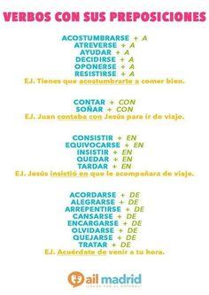 Verbos con preposiciones  #spanishlanguagetips #learnspanish