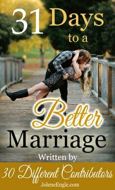 FREE eBook, 31 Days to a Better Marriage. This is now available to subscribers to Club31Women. Click through to find out more....