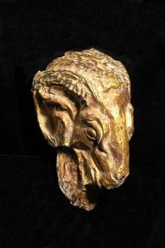 Egyptian Gold Head of a Ram - LO.1396 Origin: Egypt Circa: 300 BC to 100 BC Circa: 300 BC to 100 BC