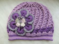 crochet hat - Háčkovaná jarní... Crochet Hats, Beanie, Cap, Knitting, Fashion, Craft, Gloves, Caps Hats, Knitting Hats
