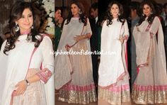 We love this Manish Malhotra anarkali on Urmila.