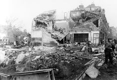 Aftermath of the V2 bombing of Woolworth's at New Cross in November 1944