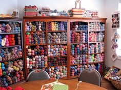 I would love to have all my yarn ready and available like this!