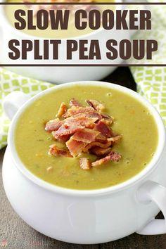 Slow Cooker Split Pea Soup via @lovebakesgood