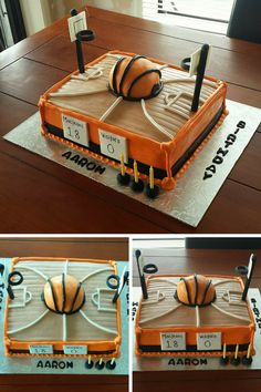 Basketball court Cake https://bangbangmeringue.wordpress.com/