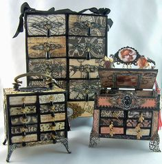 Video Tutorial – Making a Chest Out Of Matchboxes – Designed for Alpha Stamps