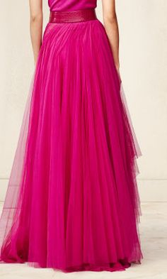 $9000 - Ridiculous! Tulle Yasmin Skirt - Collection Apparel Maxi Skirts - RalphLauren.com
