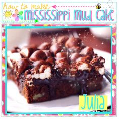 """""""How to Make: Mississippi Mud Cake"""" by the-tip-girly ❤ liked on Polyvore"""