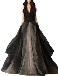 Fanhao Women's Halter Gradiente Vestito Chiffon Long Wedding Formal Dress,Black,Large >>> Check this awesome product by going to the link at the image. Formal Dresses For Weddings, Black Wedding Dresses, Bridal Wedding Dresses, Formal Wedding, Wedding Ideas, Dress Formal, Wedding Planning, Dream Wedding, Burgundy Quinceanera Dresses