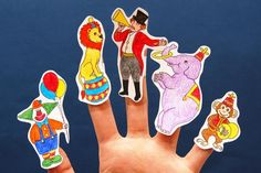 Make these easy circus finger puppets for your circus-themed finger plays, story reading, and other circus-themed activities.