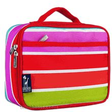 Make a bold and beautiful statement with this insulated lunchbox that has five thick bands of super-bright rainbow colors.